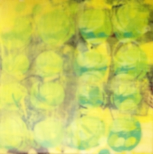 Gallery Silkscreen onto encaustic