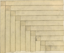 HJ BOTT  BEFORE DoV; earlier than March 7, 1972   Graphite, Charcoal on masking tape on paper