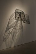 HJ BOTT 	SCULPTURE, DoV enamels on industrial mesh, galvanized steel rods & PVC coated wire