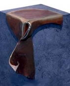 HJ BOTT 	SCULPTURE, DoV Unique patinated and polished silicon bronze fitted on a purposeful pedestal