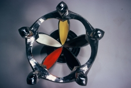 HJ BOTT  BEFORE DoV; earlier than March 7, 1972   polychromed and polished stainless steel