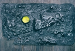 HJ BOTT RELIEFS, all periods, 1948 on oil on cast aluminum on wood