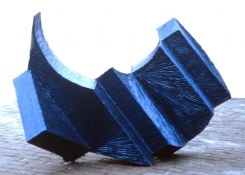 HJ BOTT 	SCULPTURE, DoV heavy acrylic gels & mica flakes on welded mild steel