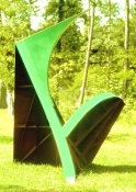 HJ BOTT 	SCULPTURE, DoV acrylic enamels on welded mild steel