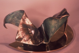 HJ BOTT 	SCULPTURE, DoV polychromed, patinated & polished silicon bronze