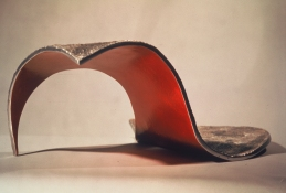 HJ BOTT 	SCULPTURE, DoV polychromed and oxidized aluminum