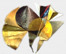HJ BOTT RELIEFS, all periods, 1948 on polymers, mica, glass beads, chromates & lacquer on shaped canvas