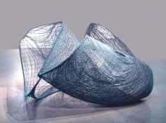 HJ BOTT 	SCULPTURE, DoV Clear and matt acrylic enamels on industrial mesh, galvanized rods, PVC-coated wire & spider wire