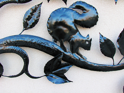 Hulsey Trusty Studios Sculpture Hand-Forged Steel, painted
