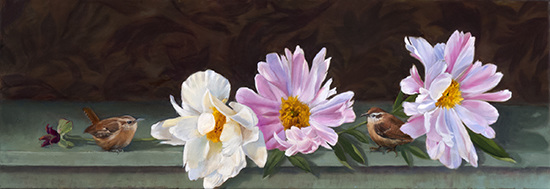HULSEY TRUSTY STUDIOS New Work Oil, 12 x 36""