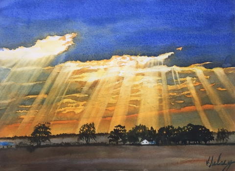 Hulsey Trusty Studios Watercolors watercolor