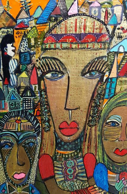 Imogen Gallery Anne Grgich Mixed medium on hemp on wood