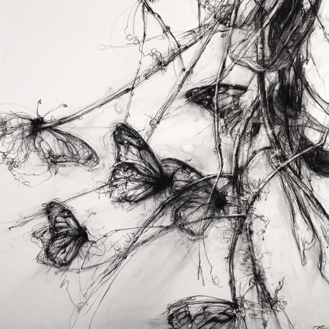 Imogen Gallery April Coppini Charcoal on paper
