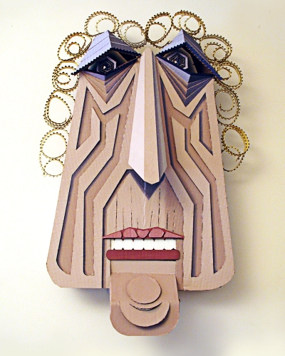 Ivan Sherman Out of the Box:Art created from Recycled Corrugated Boxes Acrylics, hand-cut corrugated