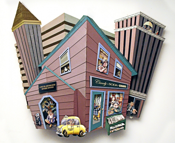 Ivan Sherman Out of the Box:Art created from Recycled Corrugated Boxes Acrylics, corrugated, 3 dimensional inkjet paper sculpture
