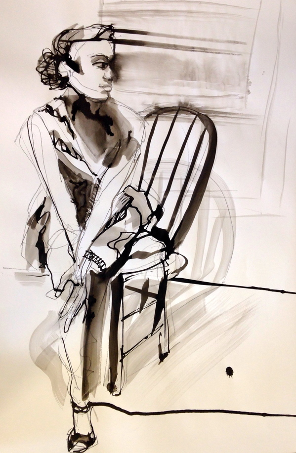 Drawing Seated Model 2