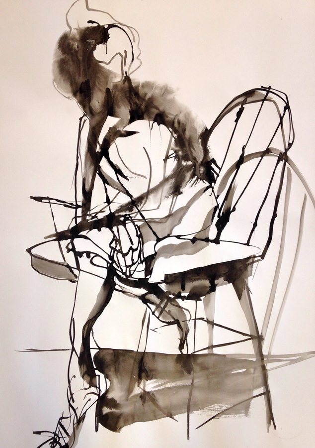 DRAWING Seated Model 1