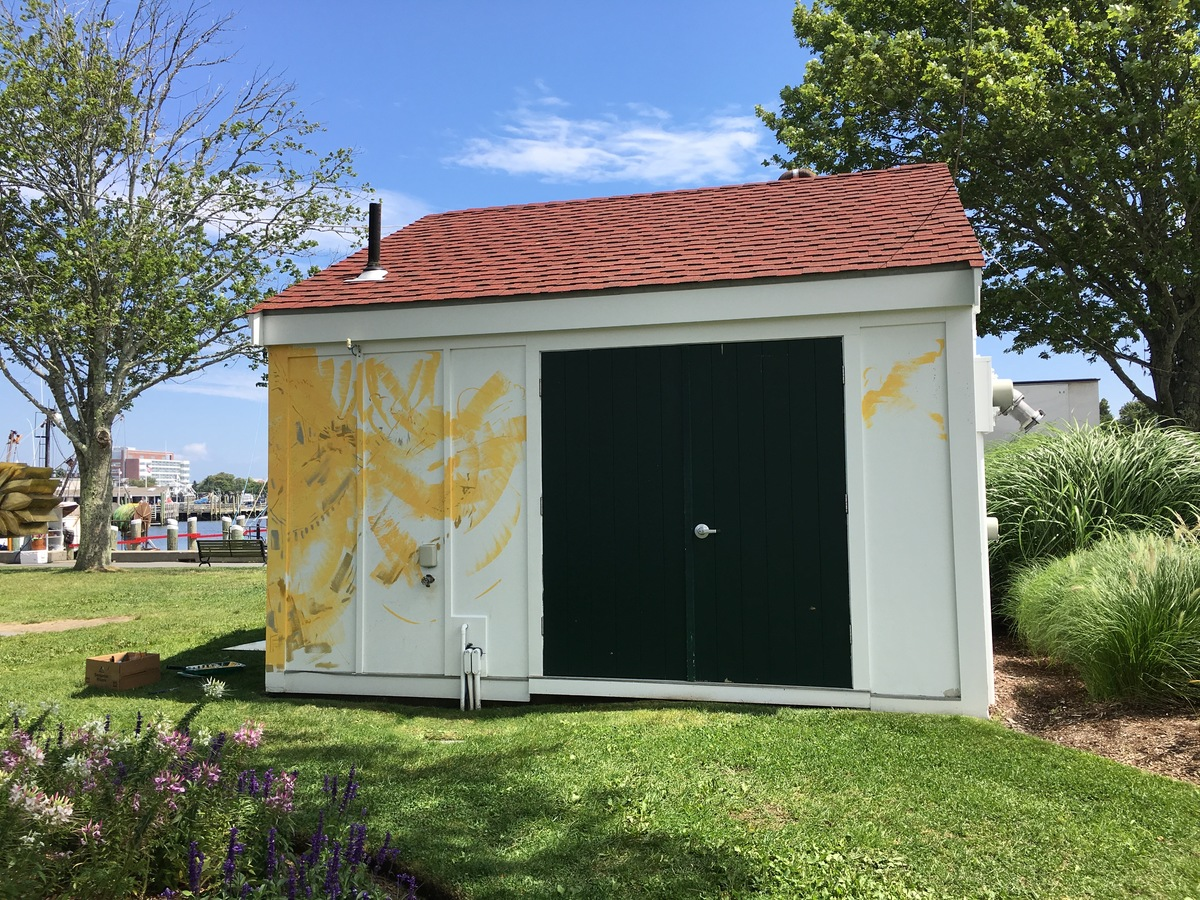 Hyannis Port Mural Color added to the side of the equipment shed