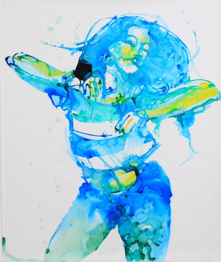 MIXED MEDIA Dancing Blue
