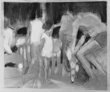 JACKIE REEVES MEMORY PAINTINGS Charcoal, acrylic and pencil on paper