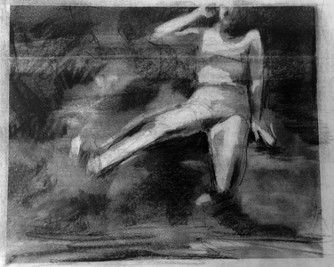 JACKIE REEVES MEMORY PAINTINGS Charcoal