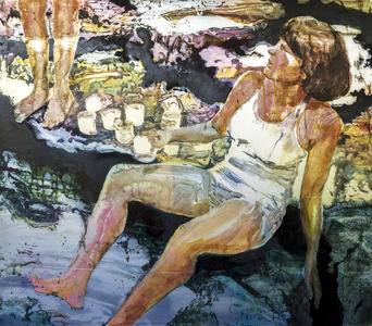 JACKIE REEVES MEMORY PAINTINGS oil on aluminum