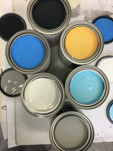 Exterior latex paints