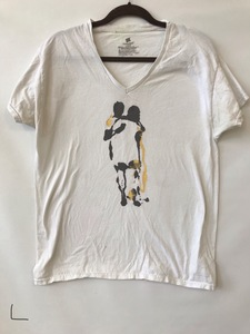 JACKIE REEVES T-SHIRTS acrylic on used T