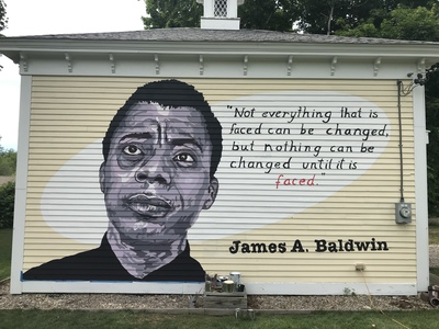 JACKIE REEVES James Baldwin On 6A Painted by Joe Diggs and Jackie Reeves
