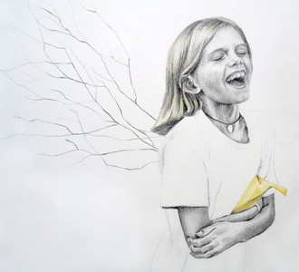 Jackie Skrzynski Children pencil and colored pencil