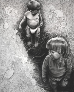 Jackie Skrzynski Children charcoal and pencil