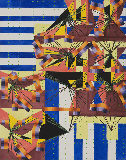 Jacob Rhoads 2015-18 Compromise Formations oil and acrylic on canvas