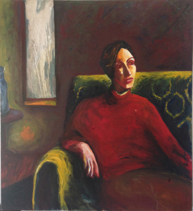Early work Woman on couch (Contemplation I)