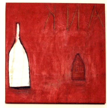 Early work Red bottles (Frank's bar)