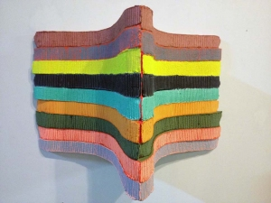 Jaime Scholnick Newest Sculptural Work (late 2012-present) acrylic and flashe on polystyrene