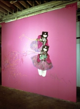 Jaime Scholnick Hello Kitty Gets A Mouth paint, chalk