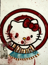 Jaime Scholnick Hello Kitty Gets A Mouth mixed media