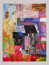 Jaime Scholnick Newest Drawings/Collages 2013 mixed media collage on paper