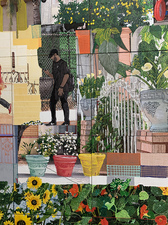 Jaime Scholnick Tile Mural Commission: LAC+USC Restorative Care Village mixed media