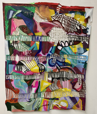 Jaime Scholnick Knotting works mixed media on canvas