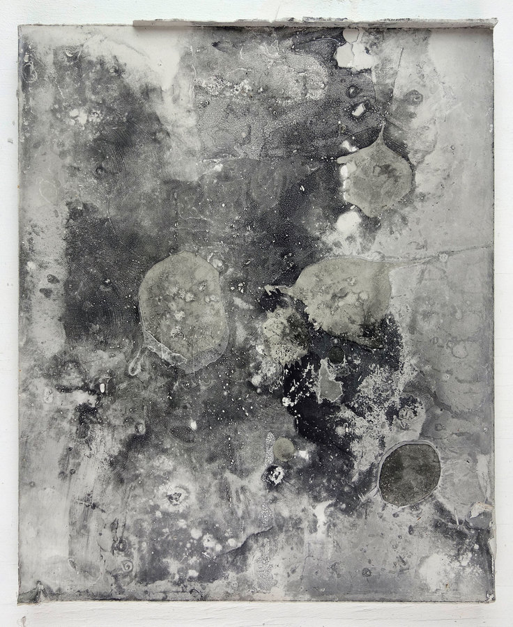 JAMES BUSS 2015-2016 plaster, collage,  relief ink