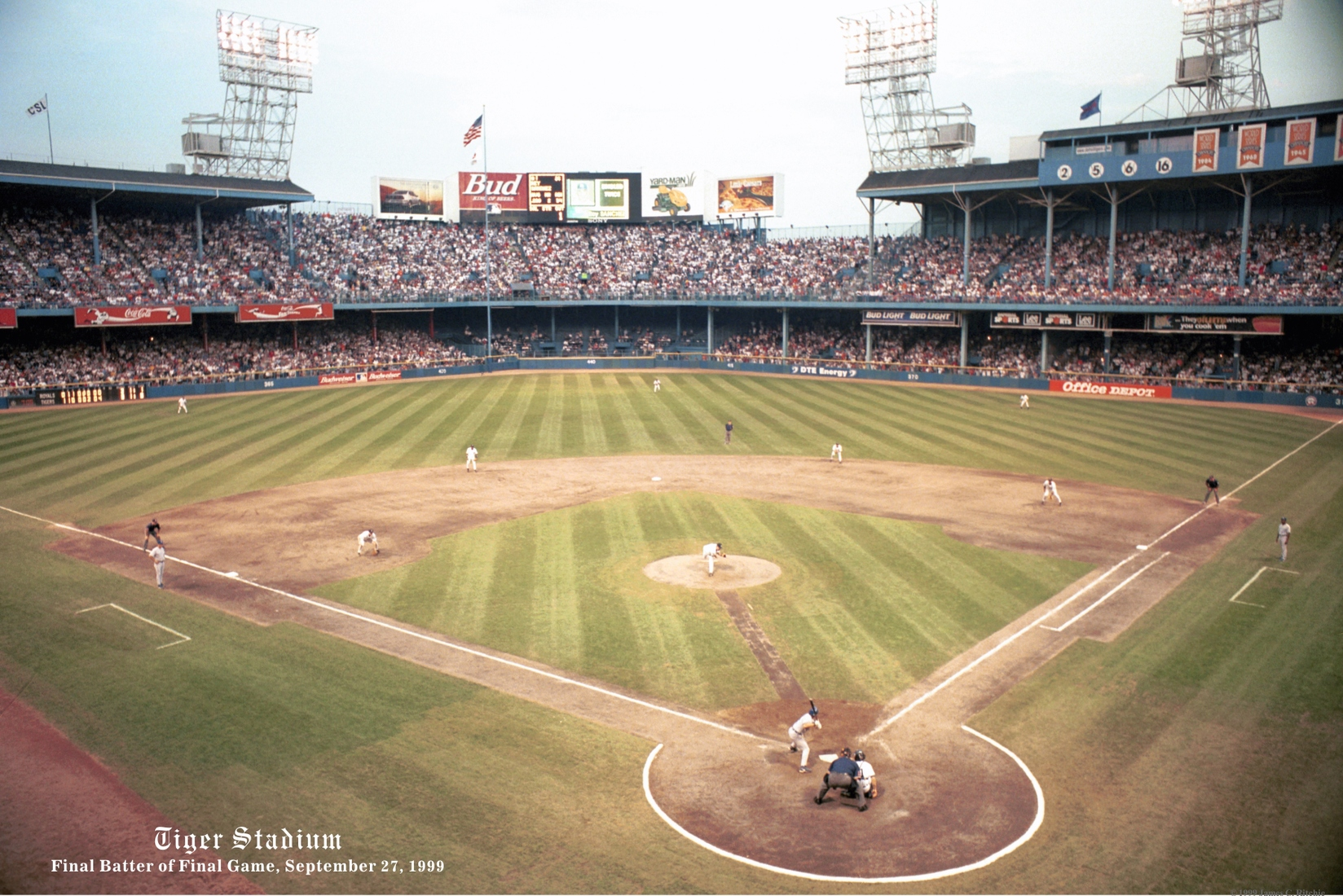 Detroit Sports Final Batter of Final Game at Tiger Stadium