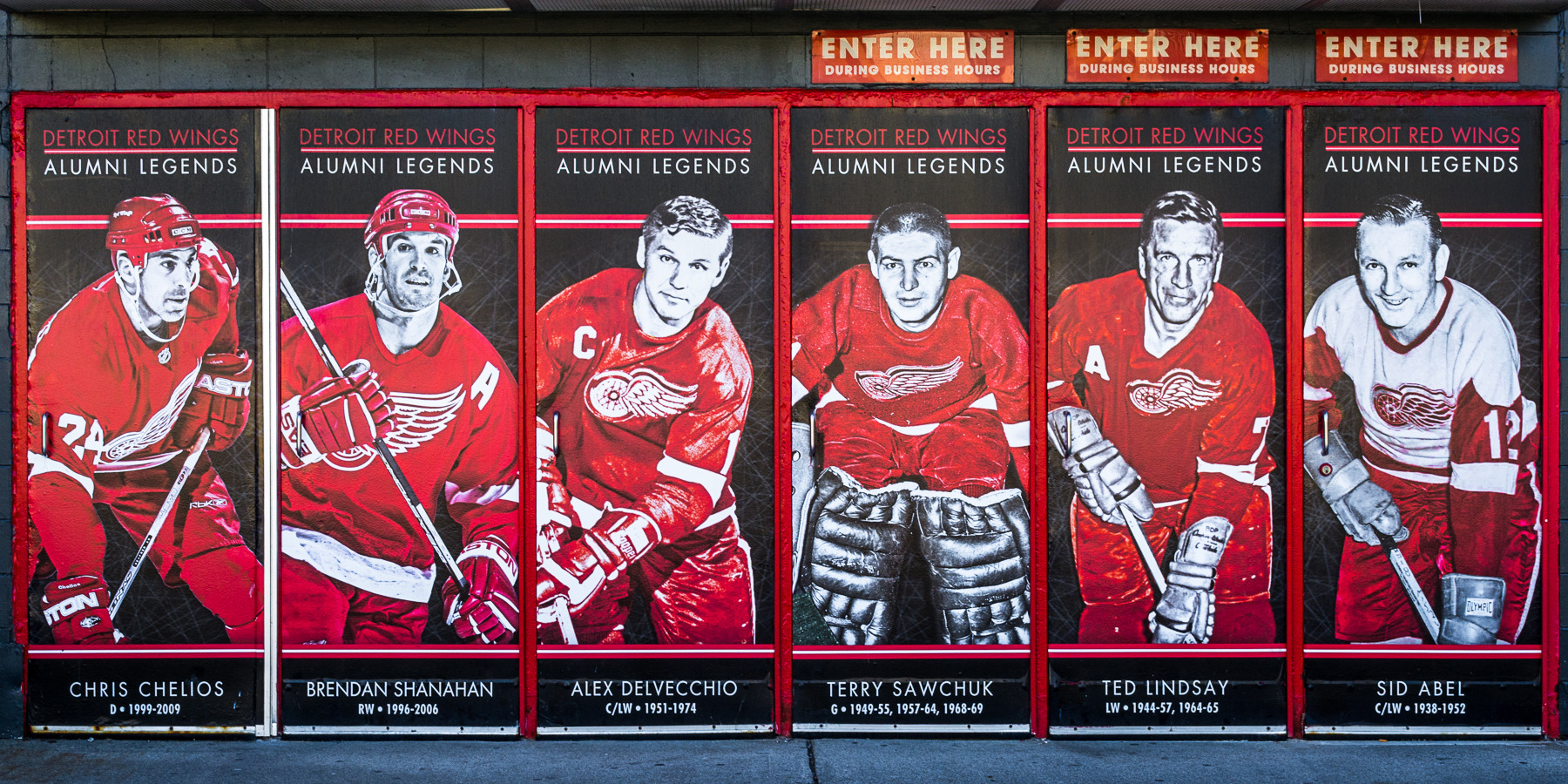 Detroit Sports Joe Louis Arena - 6 Red Wings Legends