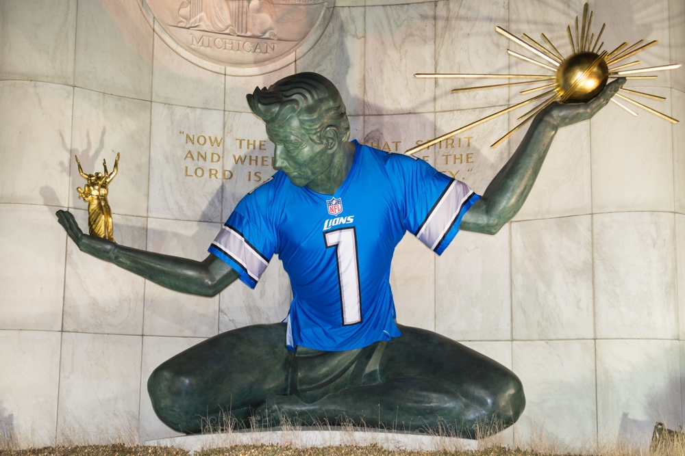 Detroit Sports Spirit of Detroit - Lions