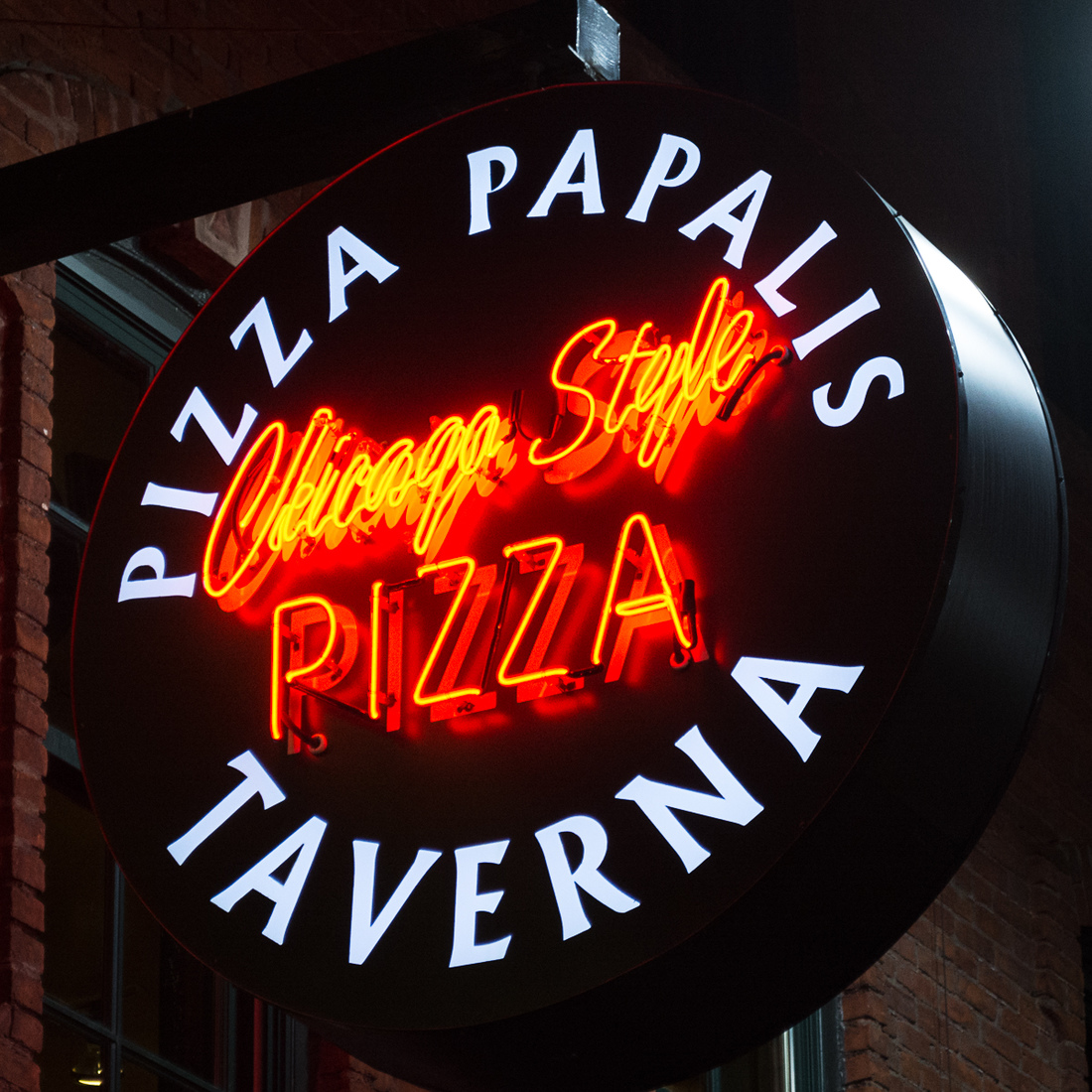 Neon Pizza Papalis - Greektown