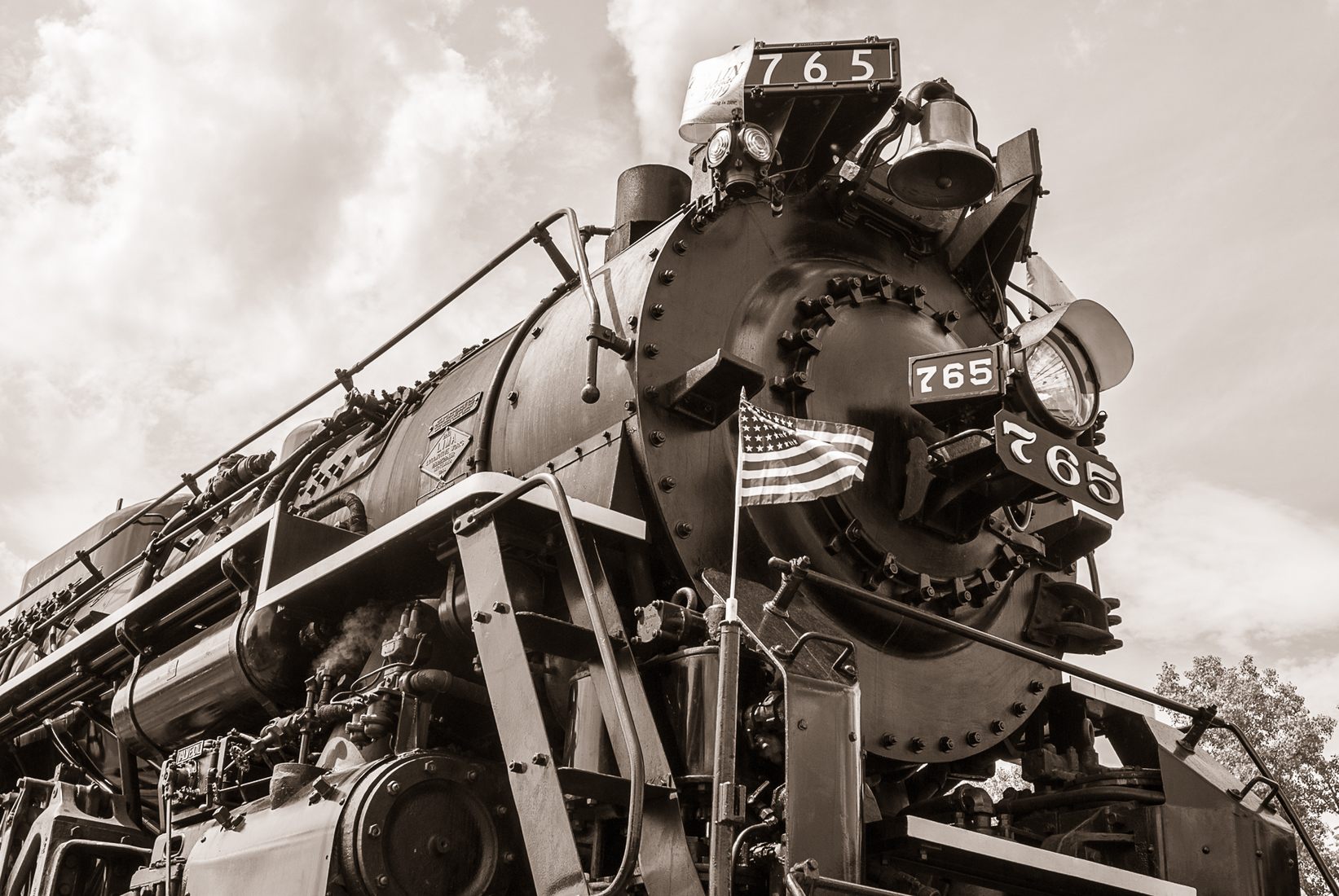 Iron, Steel and Steam Nickel Plate 765 Portrait - Duotone