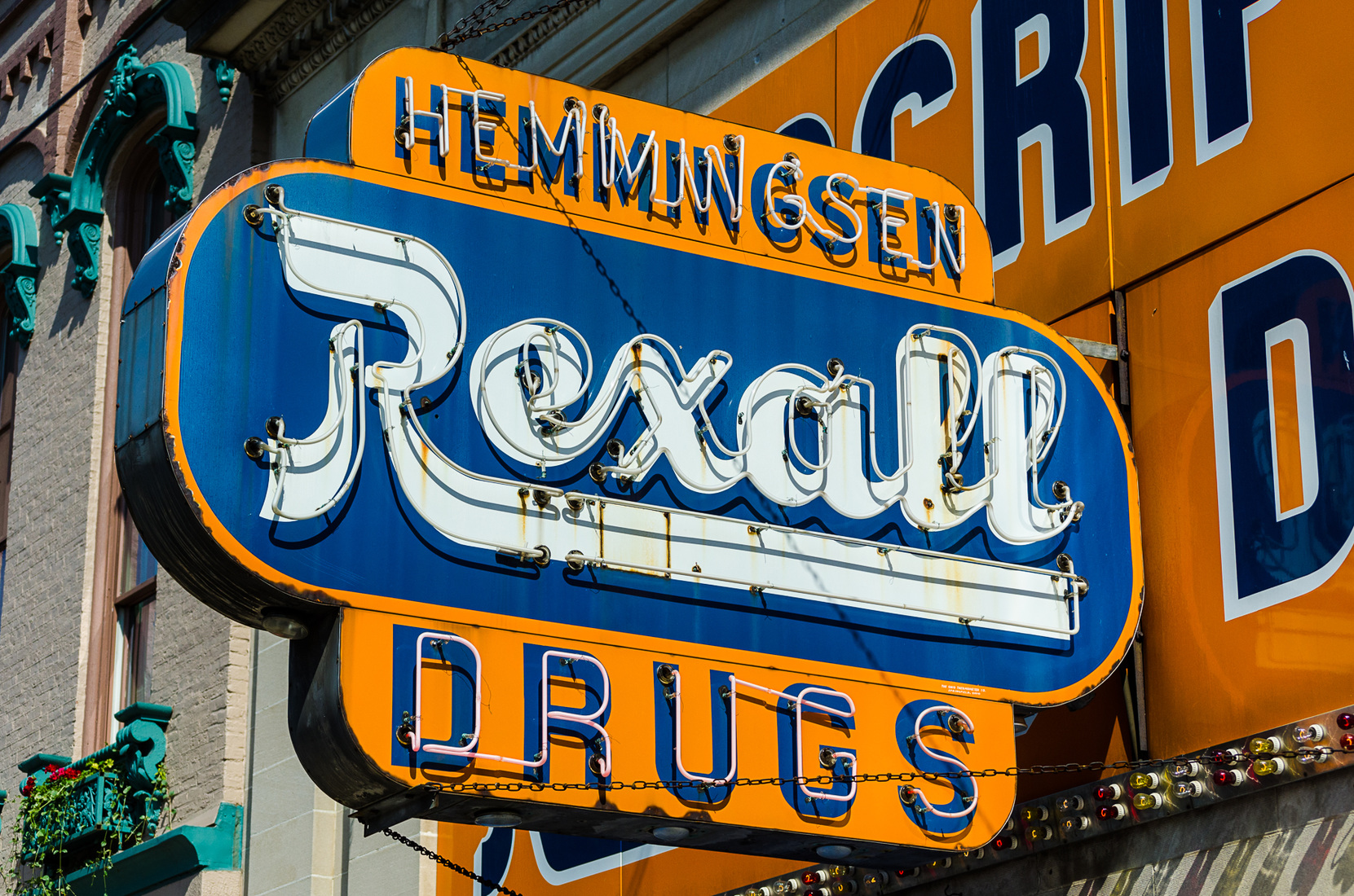 Neon Rexall Drugs - Marshall, Michigan