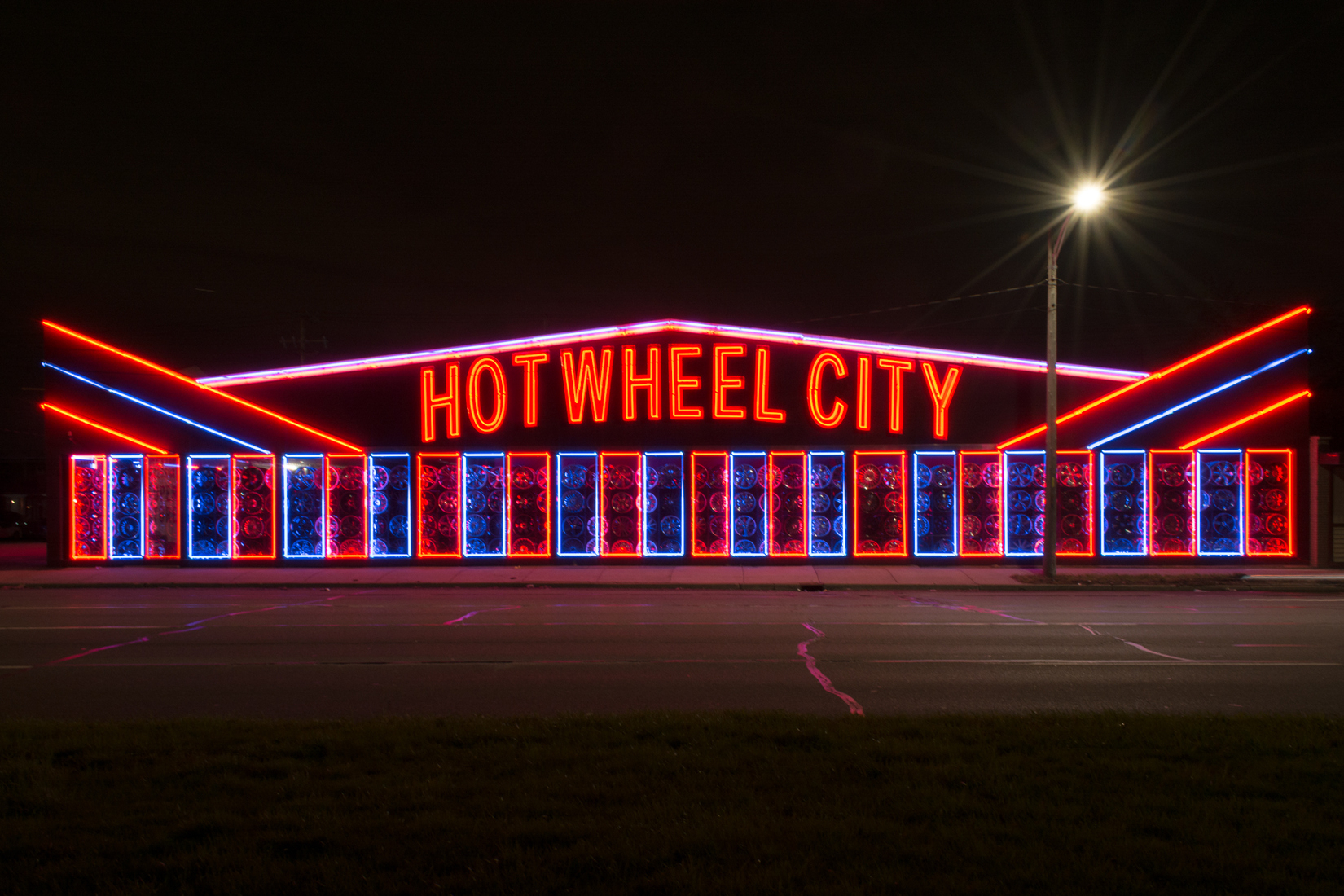 Neon Hot Wheel City No. 2a