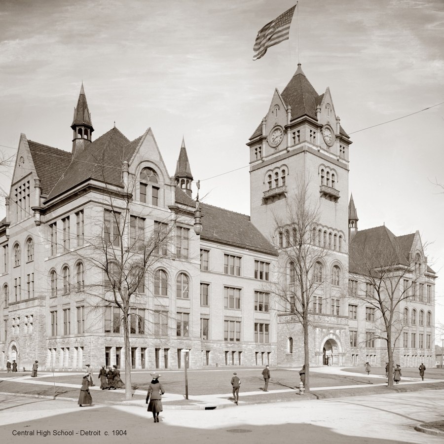 Historic Photographs Central High School - Detroit 1904