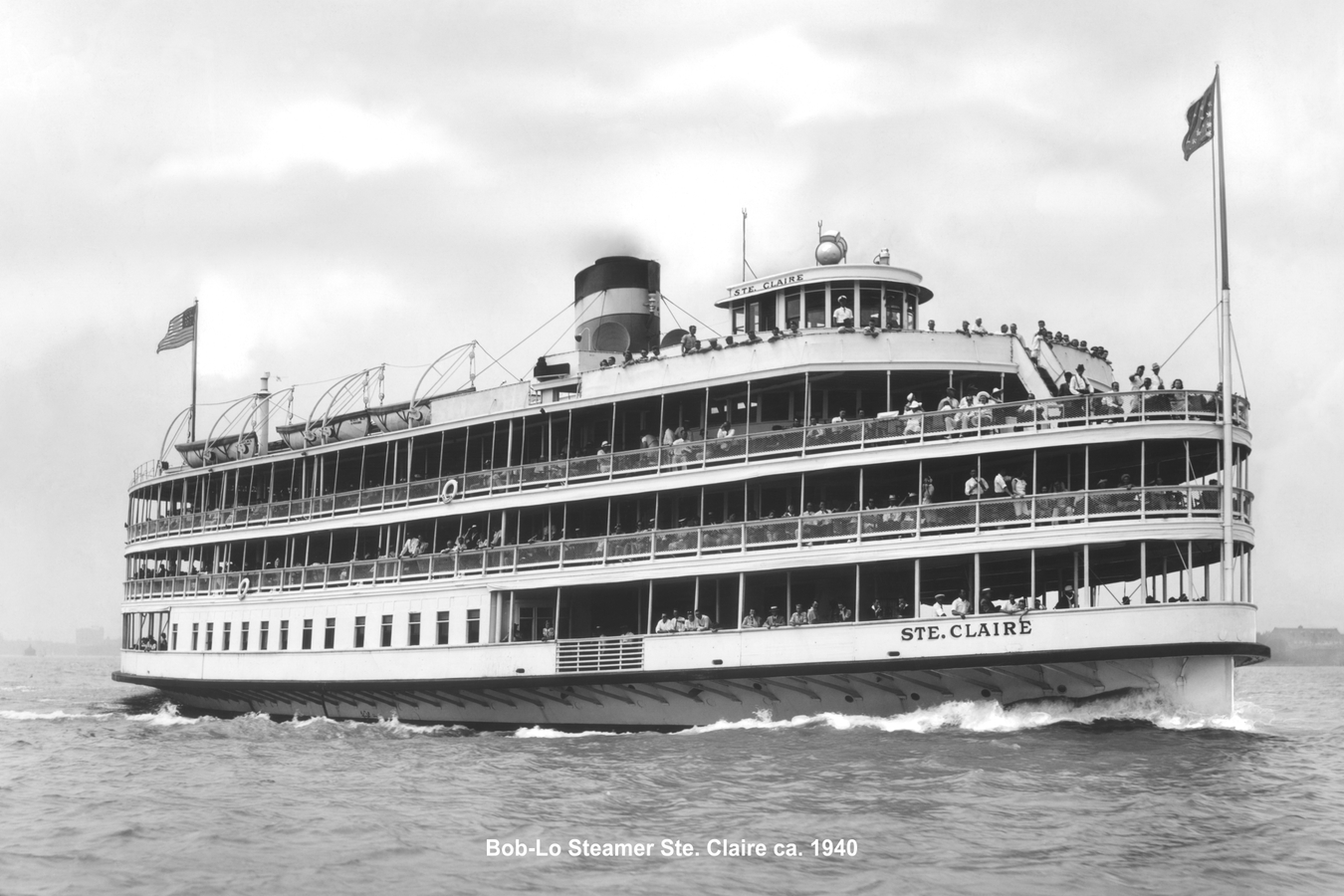 Historic Photographs Bob-Lo Steamer Ste. Claire ca. 1940